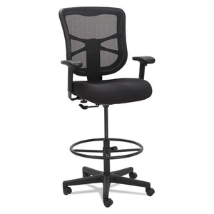 "Alera Elusion Series Mesh Stool, 33.13"" Seat Height, Supports up to 275 lbs., Black Seat/Black Back, Black Base"