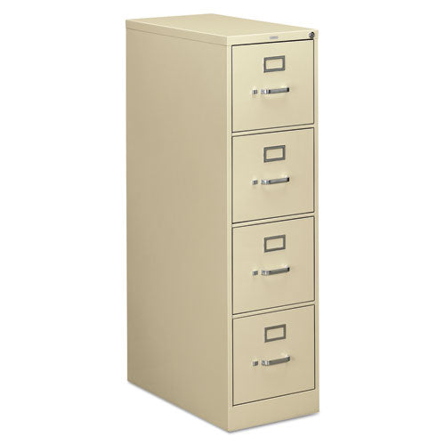 310 Series Four-Drawer Full-Suspension File, Letter, 15w x 26.5d x 52h, Putty