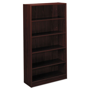 BL Laminate Series Five Shelf Bookcase, 32w x 13 13/16d x 65 3/8h, Mahogany