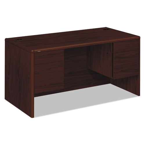 10700 Series Desk, 3/4 Height Double Pedestals, 60w x 30d x 29.5h, Mahogany