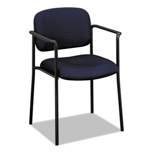 VL616 Stacking Guest Chair with Arms, Navy Seat/Navy Back, Black Base