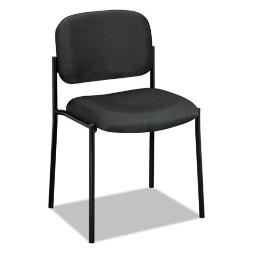 VL606 Stacking Guest Chair without Arms, Charcoal Seat/Charcoal Back, Black Base