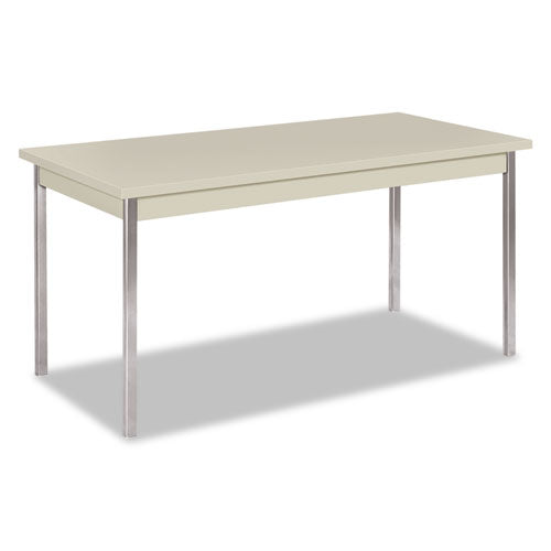 Utility Table, Rectangular, 60w x 30d x 29h, Light Gray