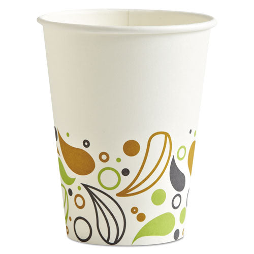 Deerfield Printed Paper Hot Cups, 12 oz, 1000/Carton