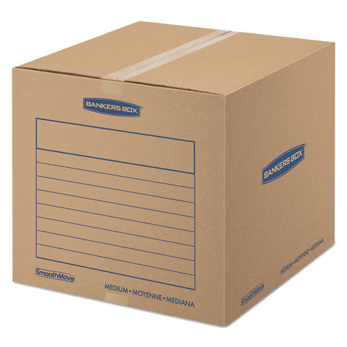 SmoothMove Basic Moving Boxes, Medium, Regular Slotted Container (RSC), 18