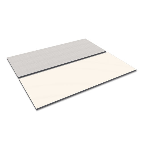 Reversible Laminate Table Top, Rectangular, 71 1/2w x 29 1/2d, White/Gray