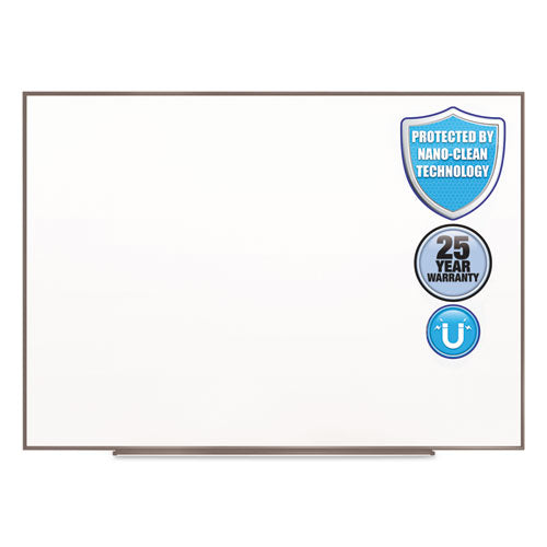 Fusion Nano-Clean Magnetic Whiteboard, 72 x 48, Silver Frame