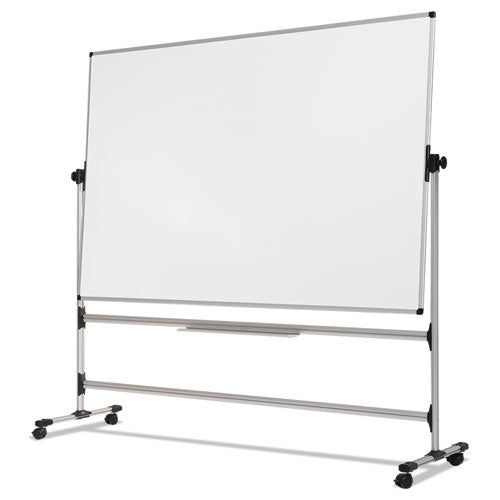 Earth Silver Easy Clean Revolver Dry Erase Board,48x70, White, Steel Frame
