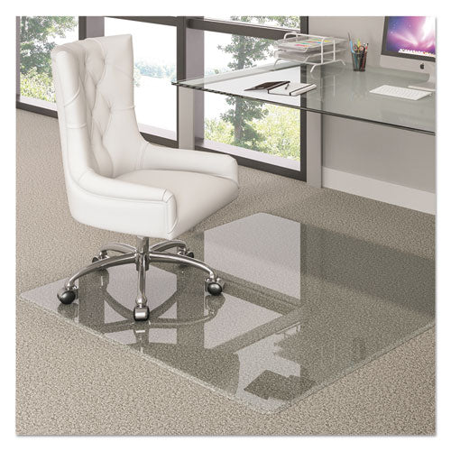Premium Glass All Day Use Chair Mat - All Floor Types, 44 x 50, Rectangular, Clear