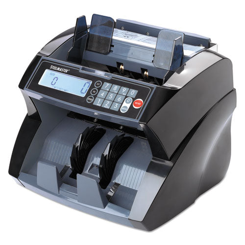 4850 Bill Counter with Counterfeit Detection, 1900 Bills/Min, Black