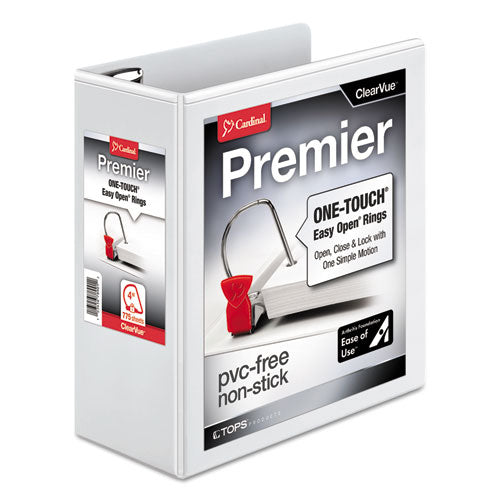 Premier Easy Open ClearVue Locking Slant-D Ring Binder, 3 Rings, 4