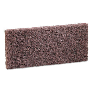 Heavy-Duty Brown Pads, 4 x 10, 20/Carton