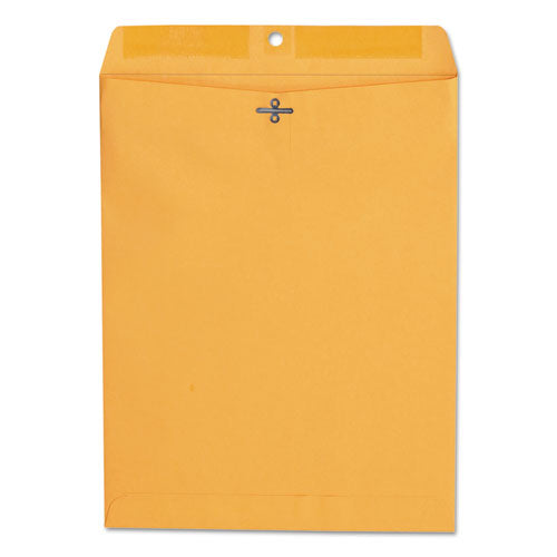 Kraft Clasp Envelope, #97, Cheese Blade Flap, Clasp/Gummed Closure, 10 x 13, Brown Kraft, 100/Box