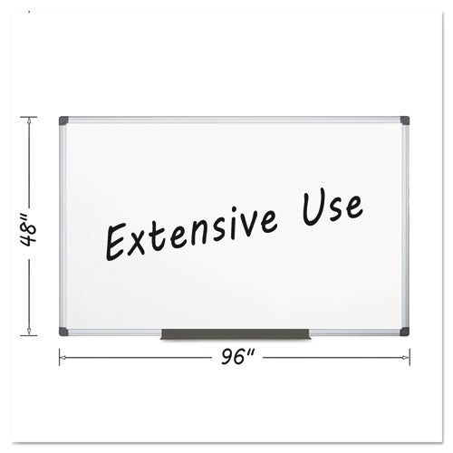 Porcelain Value Dry Erase Board, 48 x 96, White, Aluminum Frame