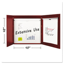 Load image into Gallery viewer, Conference Cabinet, Porcelain Magnetic, Dry Erase, 48 x 48, Cherry