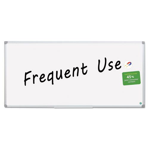Earth Gold Ultra Magnetic Dry Erase Boards, 48 x 96, White, Aluminum Frame