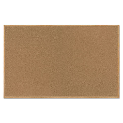 Value Cork Bulletin Board with Oak Frame, 48 x 72, Natural