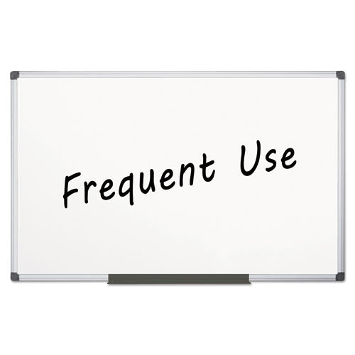 Value Lacquered Steel Magnetic Dry Erase Board, 48 x 96, White, Aluminum Frame
