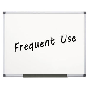 Value Lacquered Steel Magnetic Dry Erase Board, 48 x 72, White, Aluminum Frame