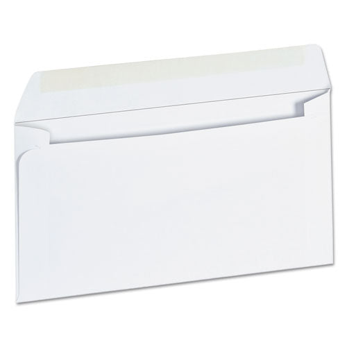 Business Envelope, #6 3/4, Cheese Blade Flap, Gummed Closure, 3.63 x 6.5, White, 500/Box
