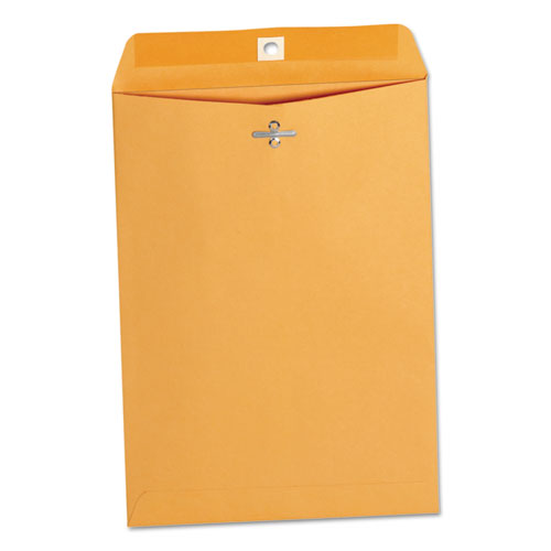 Kraft Clasp Envelope, #75, Cheese Blade Flap, Clasp/Gummed Closure, 7.5 x 10.5, Brown Kraft, 100/Box