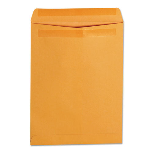 Self-Stick Open-End Catalog Envelope, #10 1/2, Cheese Blade Flap, Self-Adhesive Closure, 9 x 12, Brown Kraft, 250/Box