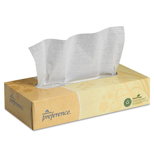 Facial Tissue, 2-Ply, White, Flat Box, 100 Sheets/Box