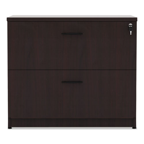 Alera Valencia Series Two Drawer Lateral File, 34 1/8w x 22 7/8d x 29 1/2h, Mahogany
