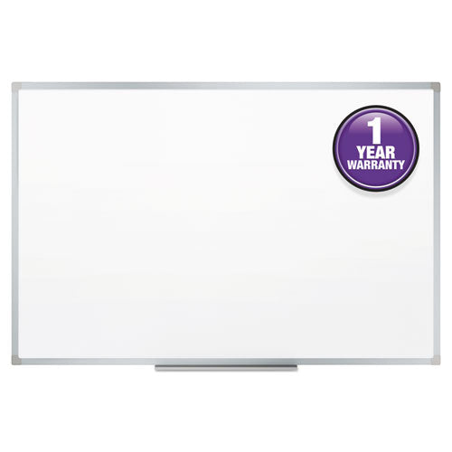 Dry-Erase Board, Melamine Surface, 72 x 48, Silver Aluminum Frame