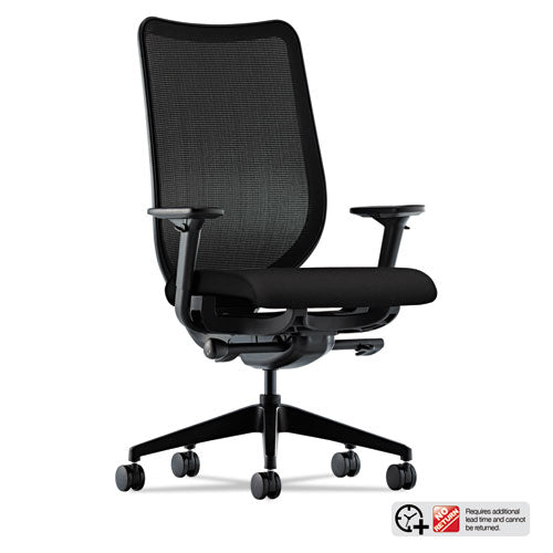 Nucleus Series Work Chair with Ilira-Stretch M4 Back, Supports up to 300 lbs., Black Seat, Black Back, Black Base