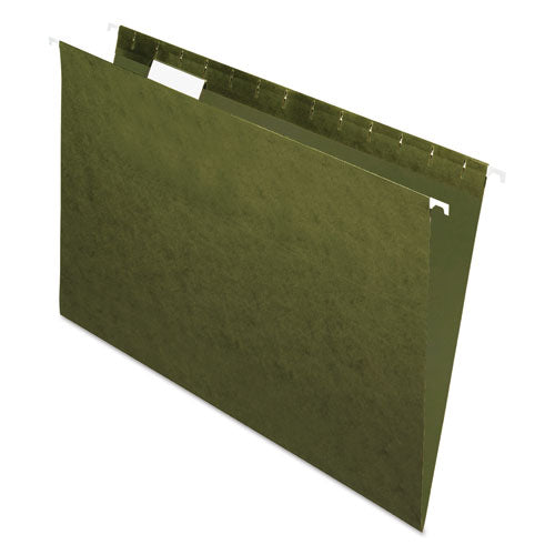 Standard Green Hanging Folders, Legal Size, 1/5-Cut Tab, Standard Green, 25/Box