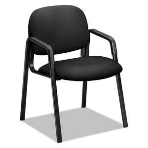 "Solutions Seating 4000 Series Leg Base Guest Chair, 23.5"" x 24.5"" x 32"", Black Seat, Black Back, Black Base"
