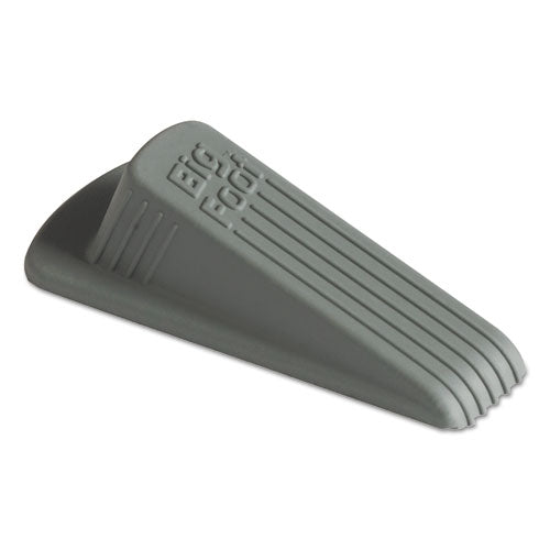 Big Foot Doorstop, No-Slip Rubber, 2.25w x 4.75d x 1.25h, Gray, 12/Pack