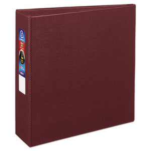"Heavy-Duty Non-View Binder with DuraHinge and Locking One Touch EZD Rings, 3 Rings, 3"" Capacity, 11 x 8.5, Maroon"