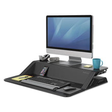 Load image into Gallery viewer, Fellowes Lotus Sit-Stand Workstation 32.75 x 24.25 x 5.5 to 22.5, Black