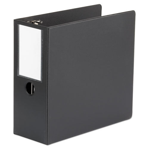 Deluxe Non-View D-Ring Binder with Label Holder, 3 Rings, 5