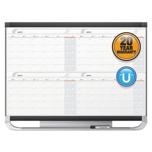 Prestige 2 Magnetic Total Erase 4-Month Calendar, 36 x 24, Graphite Color Frame