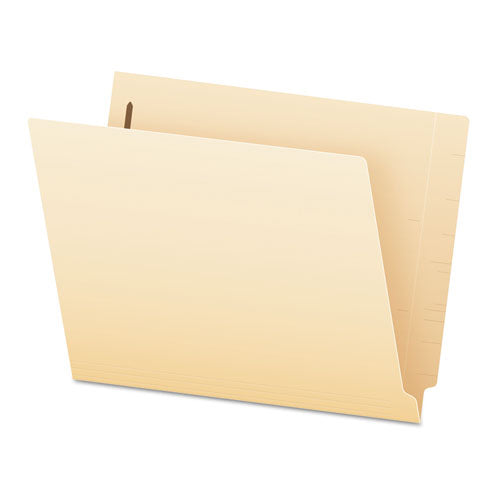SmartShield End Tab 1-Fastener Folders, Straight Tab, Letter Size, Manila, 50/Box