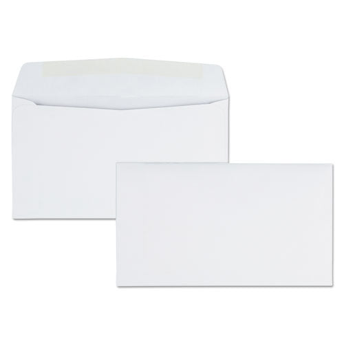 Business Envelope, #6 3/4, Commercial Flap, Gummed Closure, 3.63 x 6.5, White, 500/Box