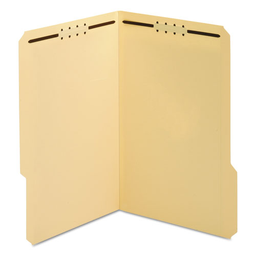 Top Tab 2-Fastener Folder, 1/3-Cut Tabs, Legal Size, Manila, 50/Box