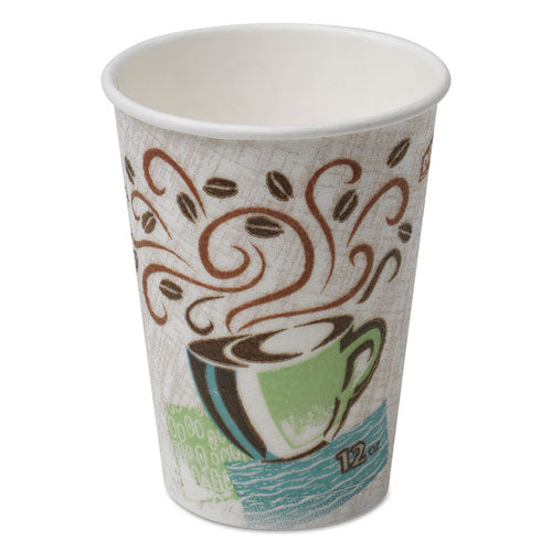 Hot Cups, Paper, 12oz, Coffee Dreams Design, 1000/Carton