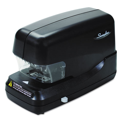 High-Capacity Flat Clinch Electric Stapler, 70-Sheet Capacity, Black