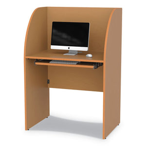 Study Carrell, 23.5w x 33d x 48.5h, Maple