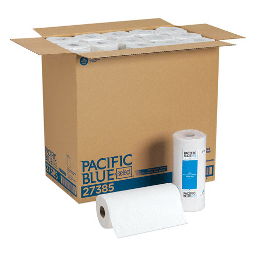 Pacific Blue Select Perforated Paper Towel, 8 4/5x11,White, 85/Roll, 30 Rolls/CT