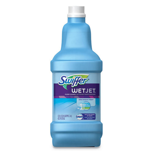 WetJet System Cleaning-Solution Refill, Fresh Scent, 1.25 L Bottle, 4/Carton