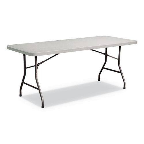 Rectangular Plastic Folding Table, 72w x 29 5/8d x 29 1/4h, Gray