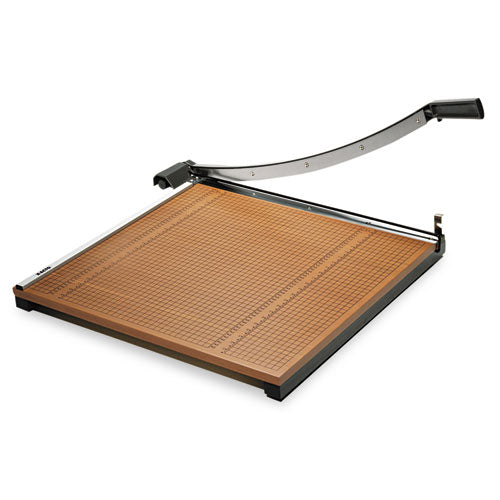 Square Commercial Grade Wood Base Guillotine Trimmer, 20 Sheets, 24