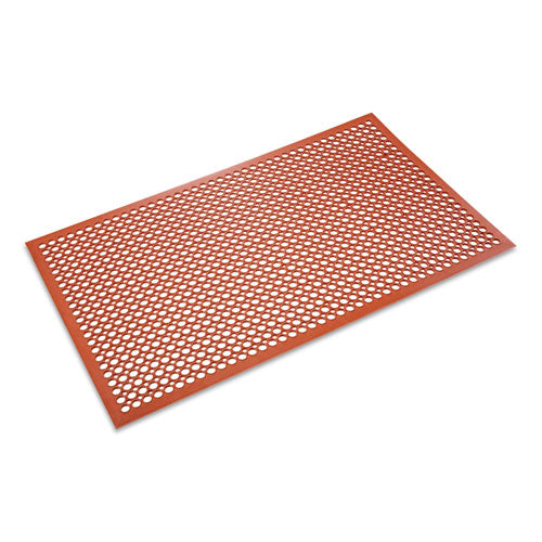 Safewalk-Light Heavy-Duty Anti-Fatigue Mat, Rubber, 36 x 60, Terra Cotta