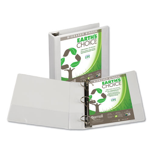 Earth's Choice Biobased D-Ring View Binder, 3 Rings, 2