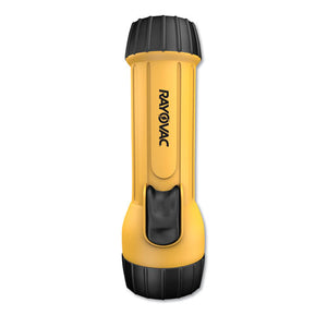 Industrial Tough Flashlight, 2 D Batteries (Sold Separately), Yellow/Black